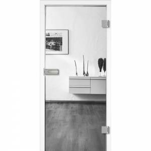 Ganzglastür Klarglas, Bohrung Studio/Office, 197,2 cm