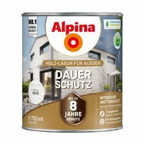 Alpina Dauer-Schutz Lasur, Weiß