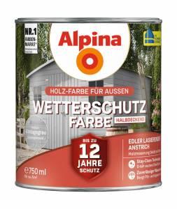 Alpina Wetterschutzfarbe, Vintagegrau