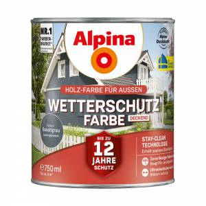 Alpina Wetterschutzfarbe, Basaltgrau