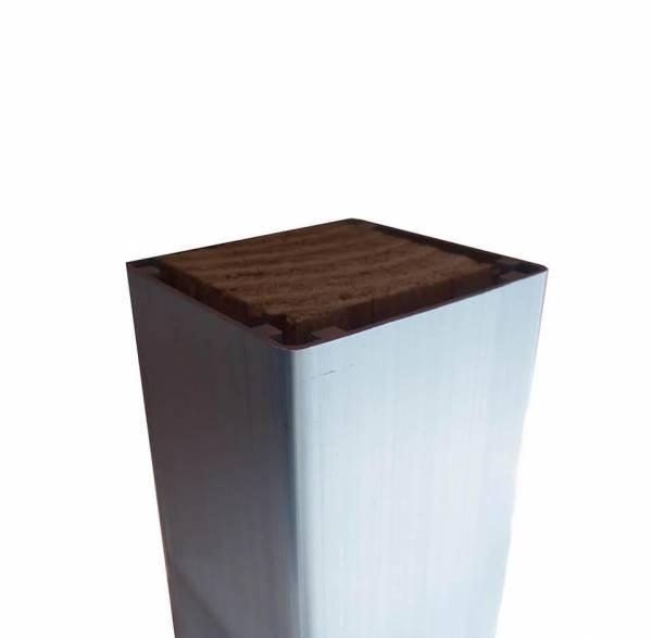 Pfosten 68 x 68 mm, 240 cm für WPC- Zaun