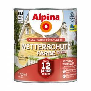 Alpina Wetterschutzfarbe 750 ml, Schwedengelb