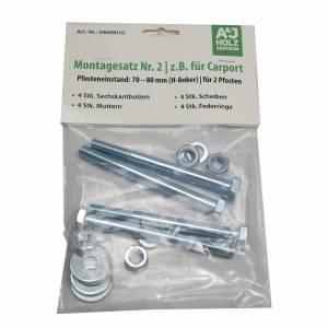 Montagesatz für H-Pfostenanker