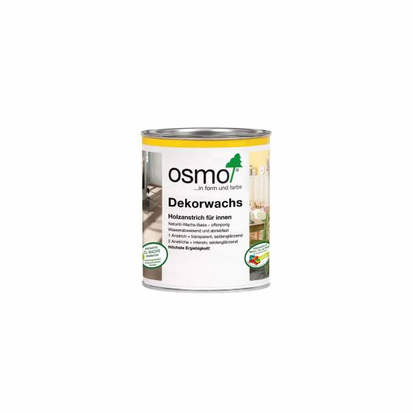OSMO Dekorwachs intensiv weiß matt