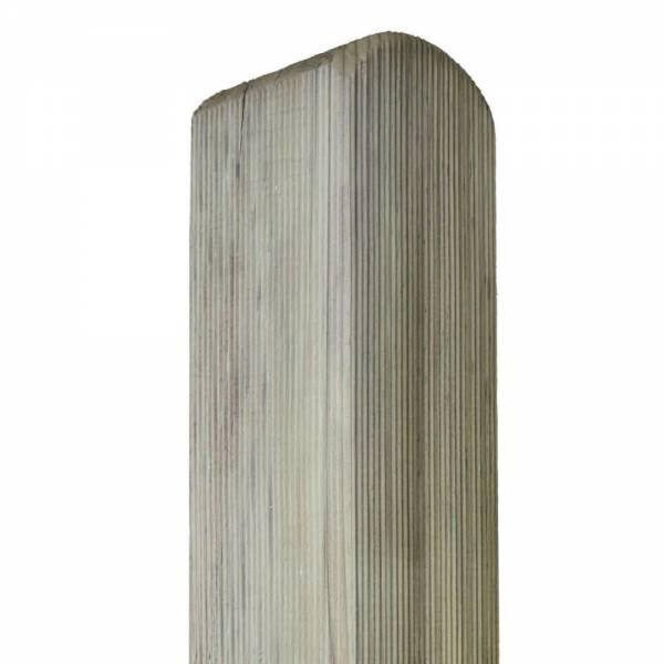 Pfosten, Kopf gerundet 90 x 90 mm 210 cm