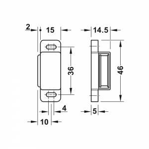 SB-Magnetverschluss braun 2 kg