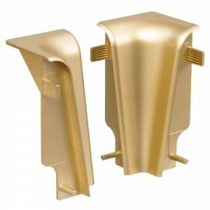 Kunststoffecken für Laminatleisten Metalloptik