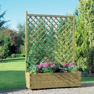 Blumenkasten mit Gitter, gerade