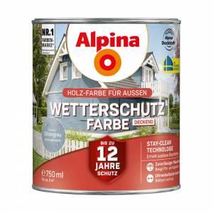 Alpina Wetterschutzfarbe, Silbergrau